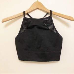 Aerie black high neck sports bra size medium